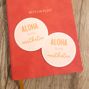 Aloha Aesthetic - Medium Circle Sticker