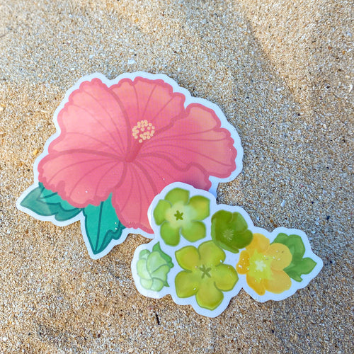 Hibiscus - Medium Sticker
