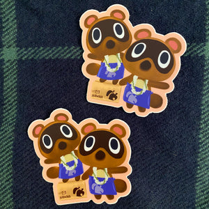 Timmy and Tommy- Animal Crossing Large Sticker
