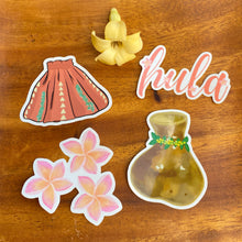 Load image into Gallery viewer, Hula Sticker Pack (4 Medium Vinyl Stickers)