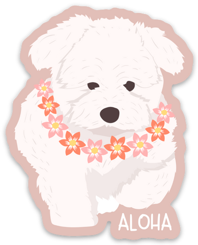 Aloha Pup - Medium Sticker