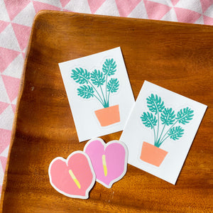 Anthurium - Mini Pack of 2 Stickers