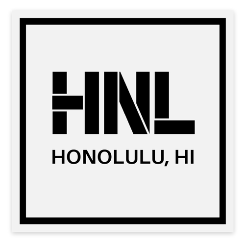 Clear HNL Square Sticker