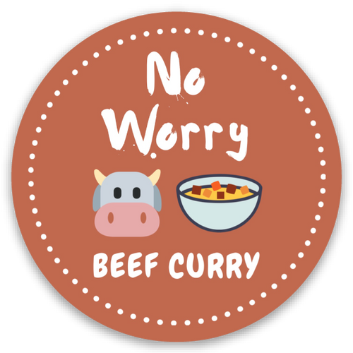 No Worries - Mini round sticker