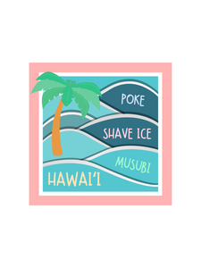 Hawaii Snacks - Mini sticker