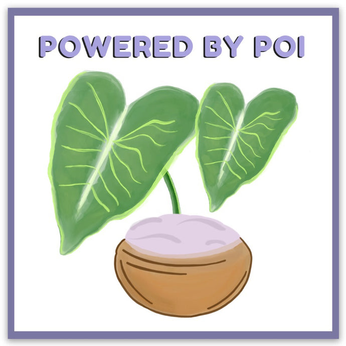 Powered by Poi! - Medium Magnet
