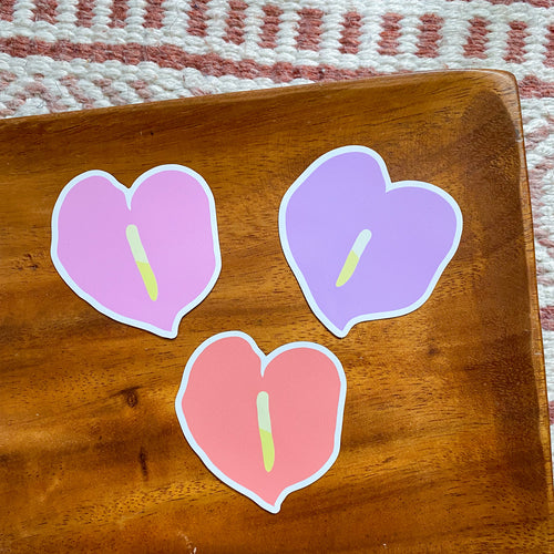 Anthurium Magnet Set - Set of 3