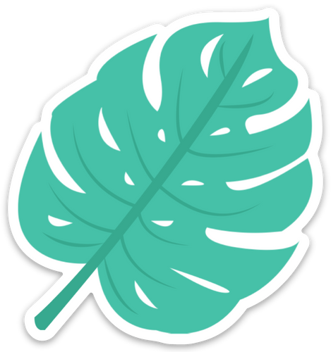 Monstera Window Cling