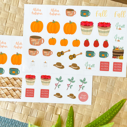 Pumpkins & Mountain Apples: Fall 2020 Sticker Sheet