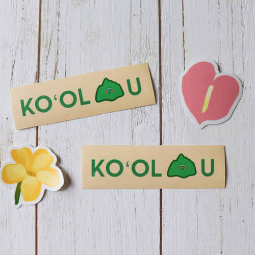 Koʻolau Mountain - Medium Sticker