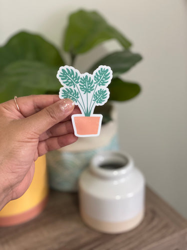 Happy House Plant - Medium Sticker
