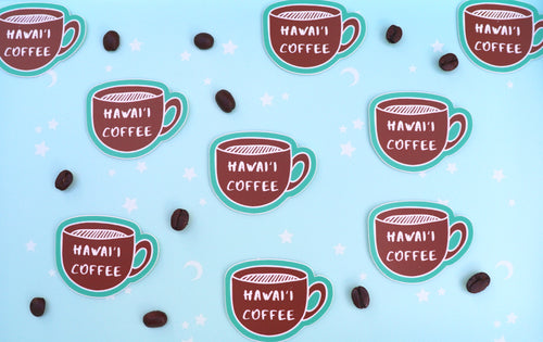 Hawaii Coffee sticker - mini