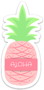 Aloha Pineapple Sticker - Medium