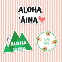 Load image into Gallery viewer, Aloha Aina - Medium sticker