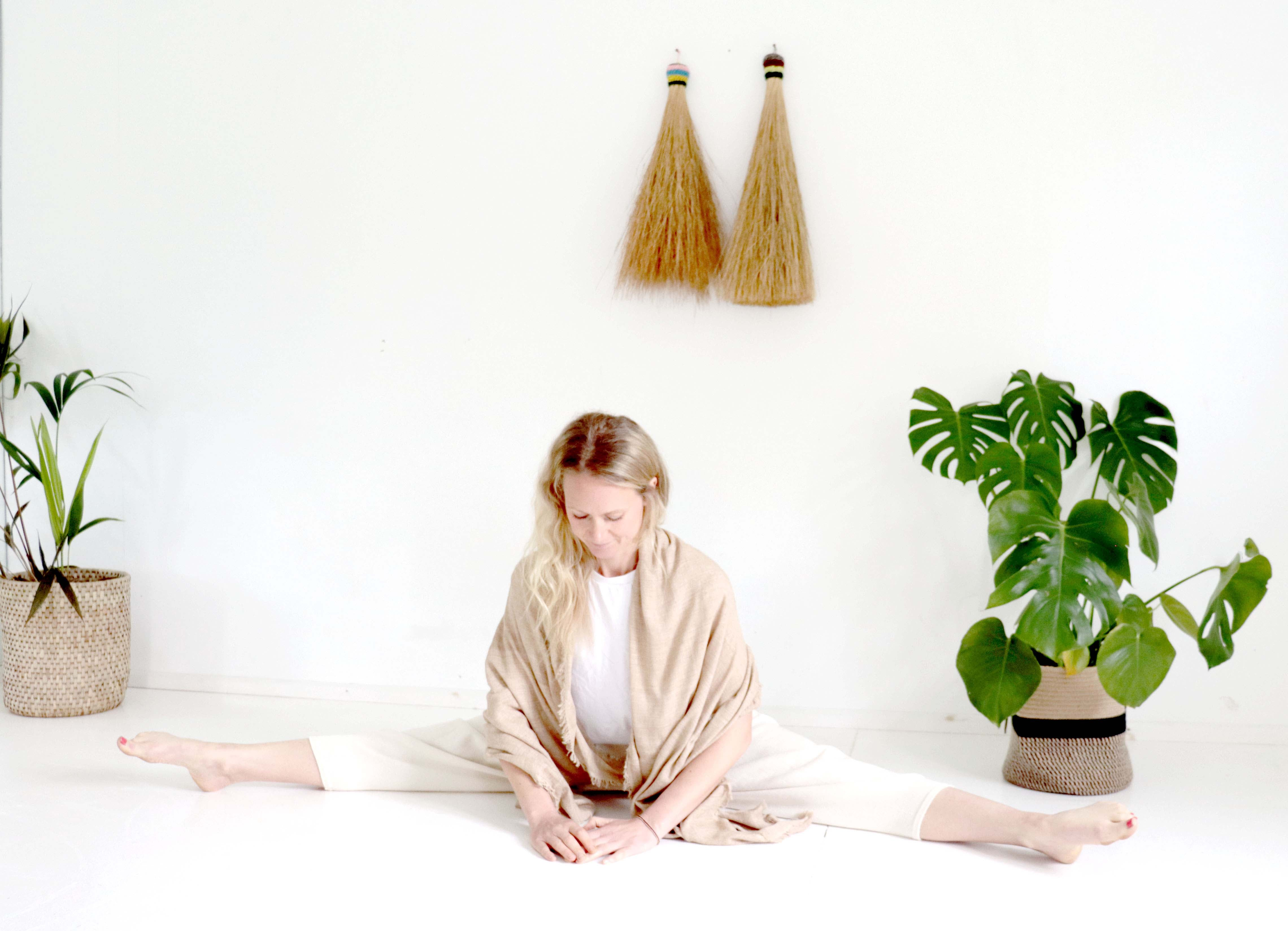 Chloe Pilates wears Thread Tales Ancestral Wellness Collection, launching in mid July, early August.