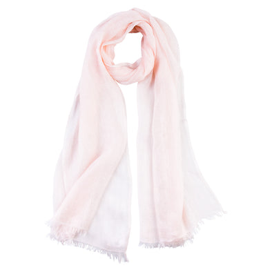 pink linen scarf