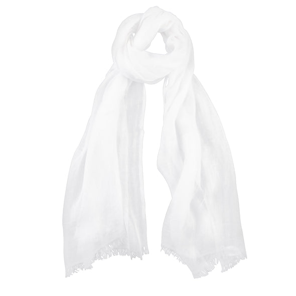 Cloud Linen Scarf - White