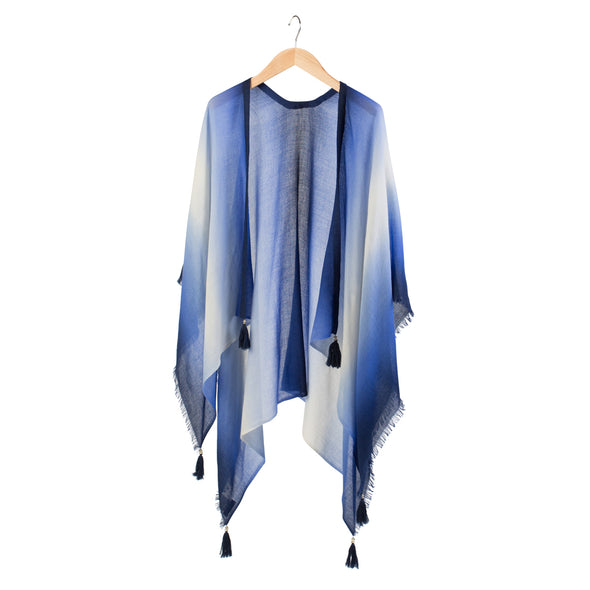 Peace Mountain Dip-dyed Cover Up - Indigo