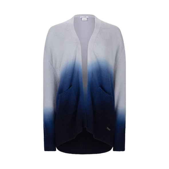 Gift Set - Dip Dye Cashmere Cardigan Ink Ombre with Complimentary Blue Headband (worth £349)