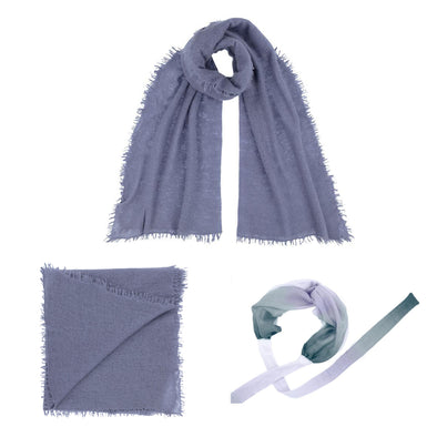 Gift Set - Felted Cashmere Wrap with Complimentary Ocean Headband (worth £165)