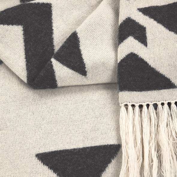 Nomad Jacquard Blanket Wrap - Charcoal