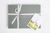 Gift box grey Thread Tales company keepsake presentation
