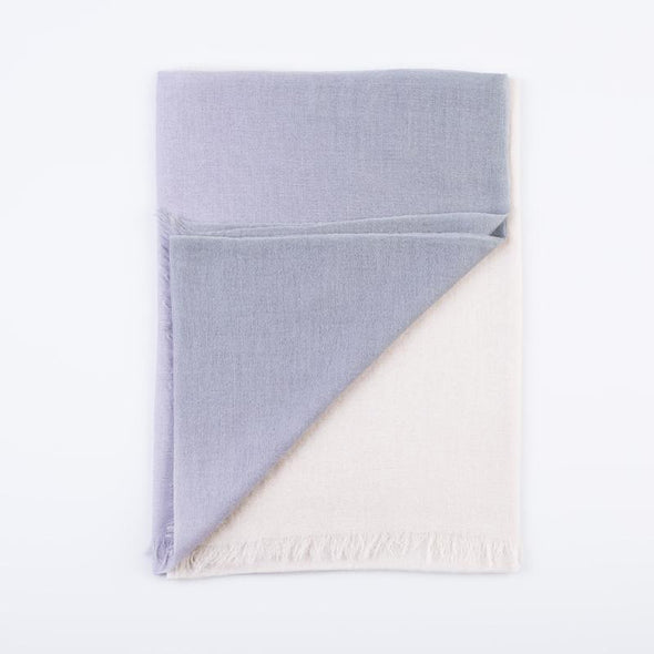 Peace Mountain Dip-dyed Scarf - Grey