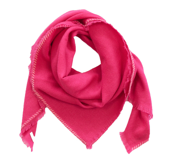 Patched Square Bandana in Hot Pink