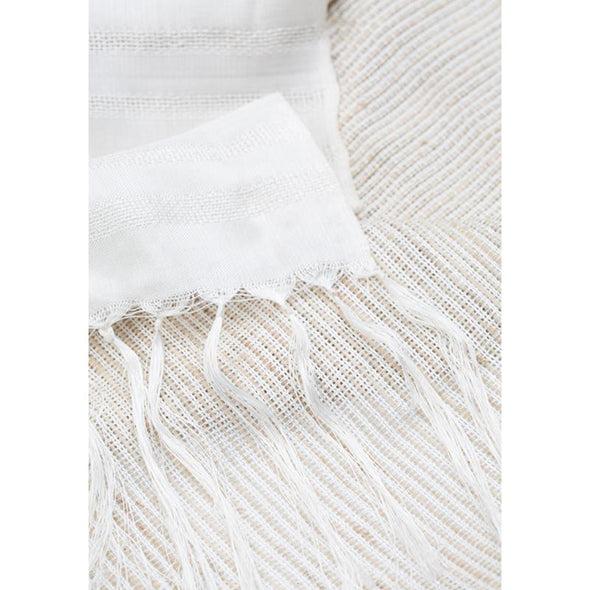 Lotus/Silk Border Stripe - Ivory
