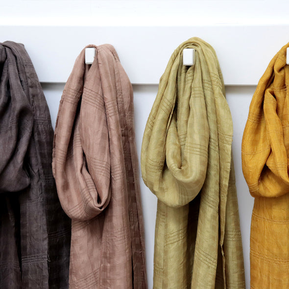 Natural Plant Dyed Lotus Scarfs