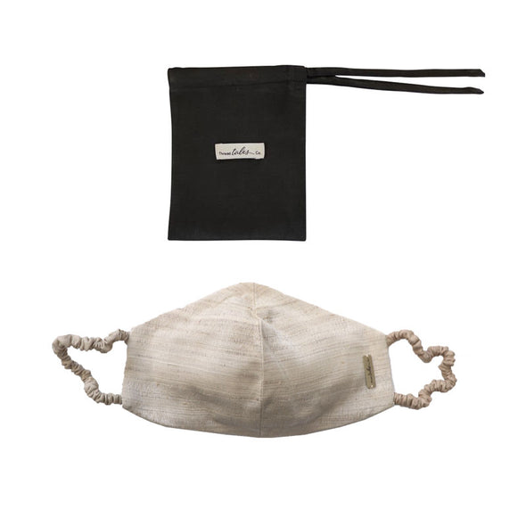 Lotus and Silk Face Mask with Covered Elastic - Natural