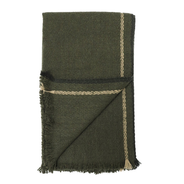 Men's Selvedge Edge Scarf in Olive - Pre-order