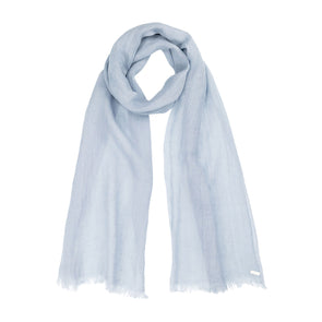 linen scarf in blue