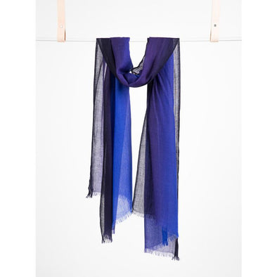 Hand Woven Midnight Dip Dye Scarf