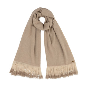 Hand Woven Ombre Fringe Scarf - Natural