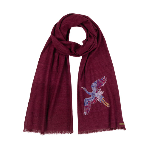 Spirit of Freedom Crane Scarf - Lotus/Cashmere