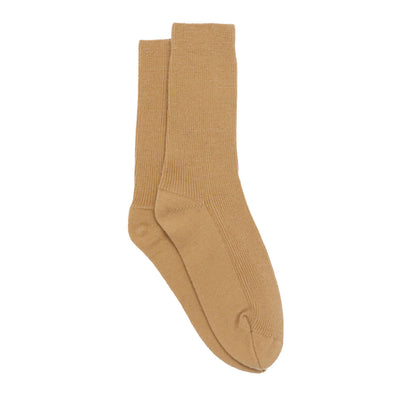 Knitted Recycled Cashmere Socks in Camel