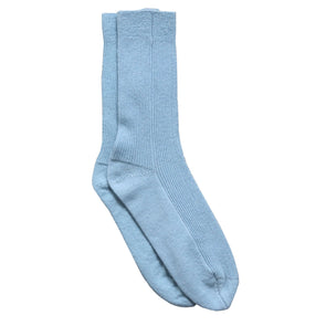 Knitted Recycled Cashmere Socks in Sky Blue