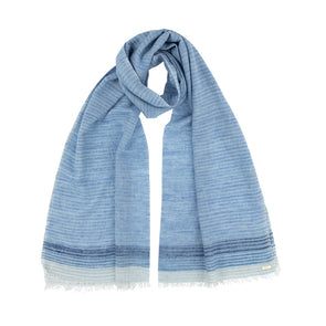 Space-Dyed Denim Blue Scarf