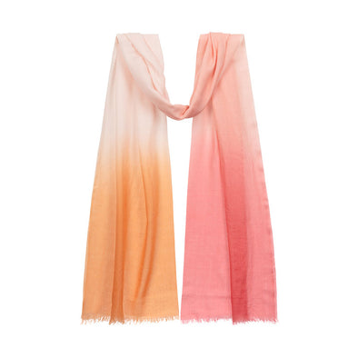 Peace Mountain Dip Dyed Scarf - Sunset