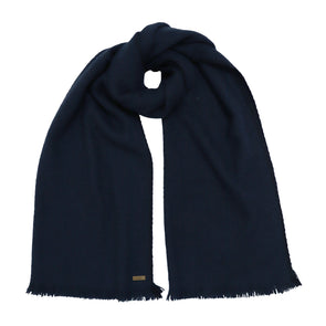 Hand Woven Narrow Yak Scarf in Navy - Pre-order