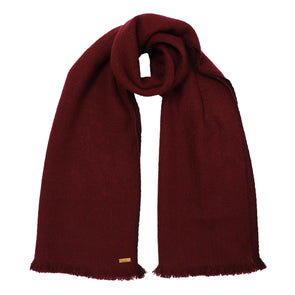 Hand Woven Narrow Yak Scarf in Wine - Pre-order
