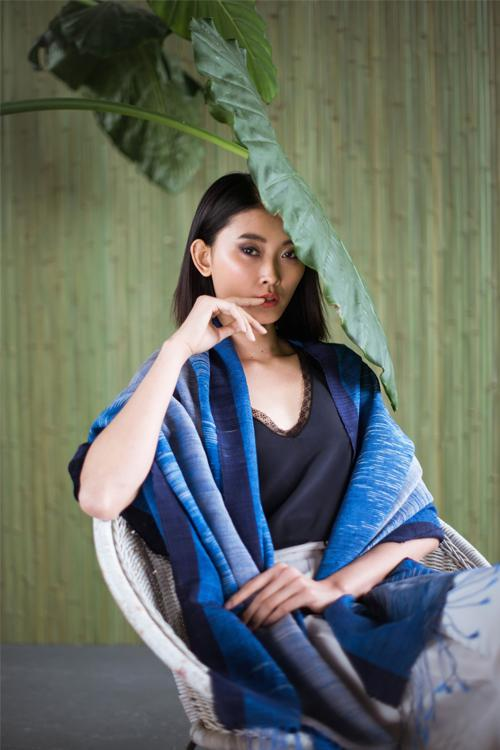 The Inle Heritage Ikat Shawl - Made to Order