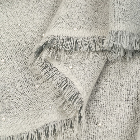 Ombre Scarf with Crystals and Pearls
