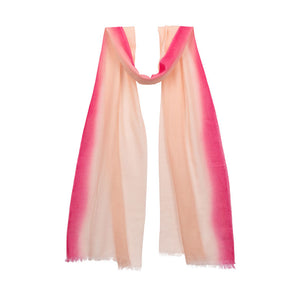 Dip Dyed Flash Stripe Scarf - Sunset