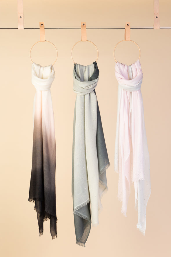 Peace Mountain Dip Dyed Scarf - Earth Tones