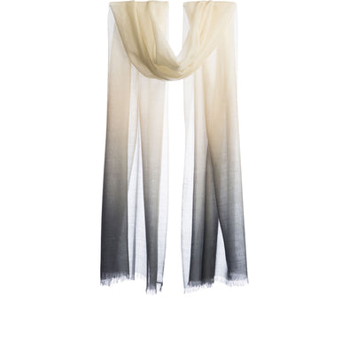 Hand Woven Feather Light Ombre Wool Scarf