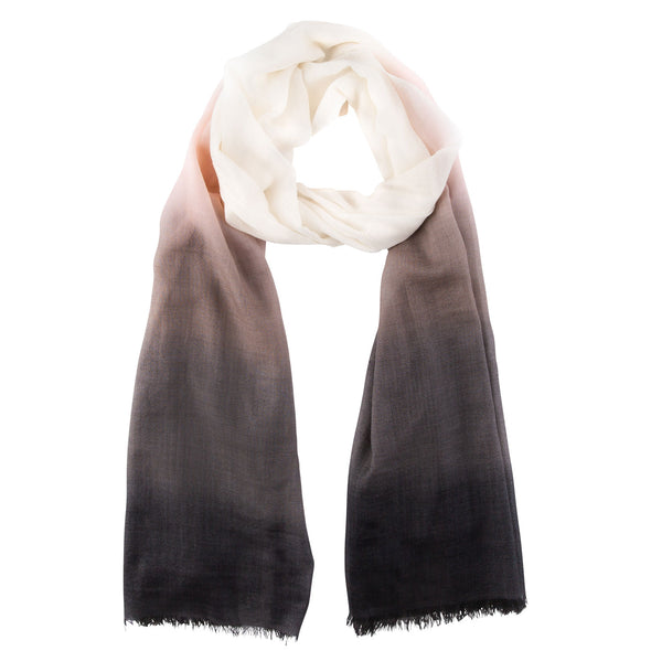 Peace Mountain Dip-dyed Scarf - Indigo