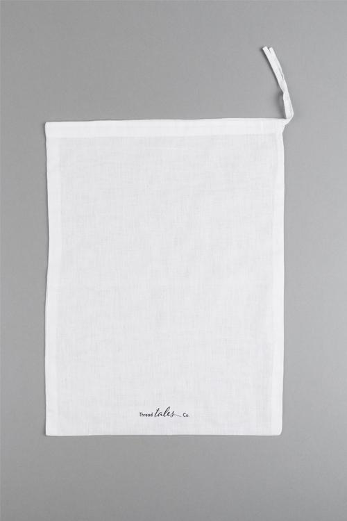 Cotton travel bab with Thread Tales company printed logo ethically sourced sustainable cotton