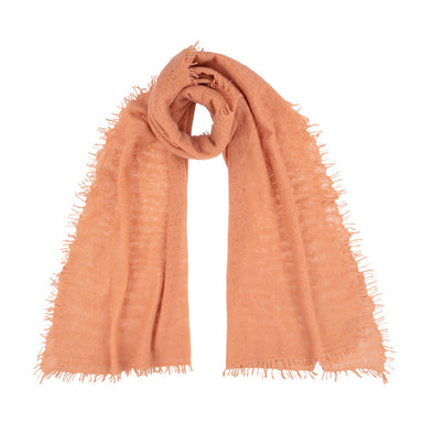 Felted Cashmere Scarf  Orange Rust